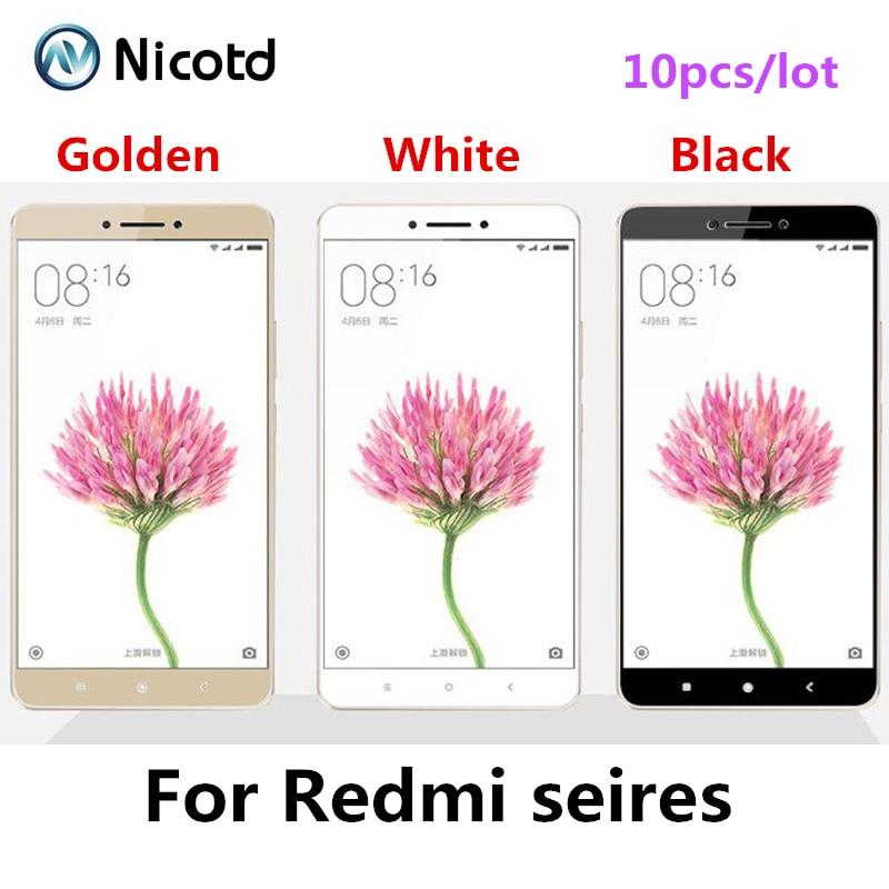bilder für 10 teile/los Cover Gehärtetem Glas Für Xiaomi Redmi 3 S 4 Hinweis 3 4 Für Hongmi Pro 4Pro Displayschutzfolie Explosionsgeschützte Film