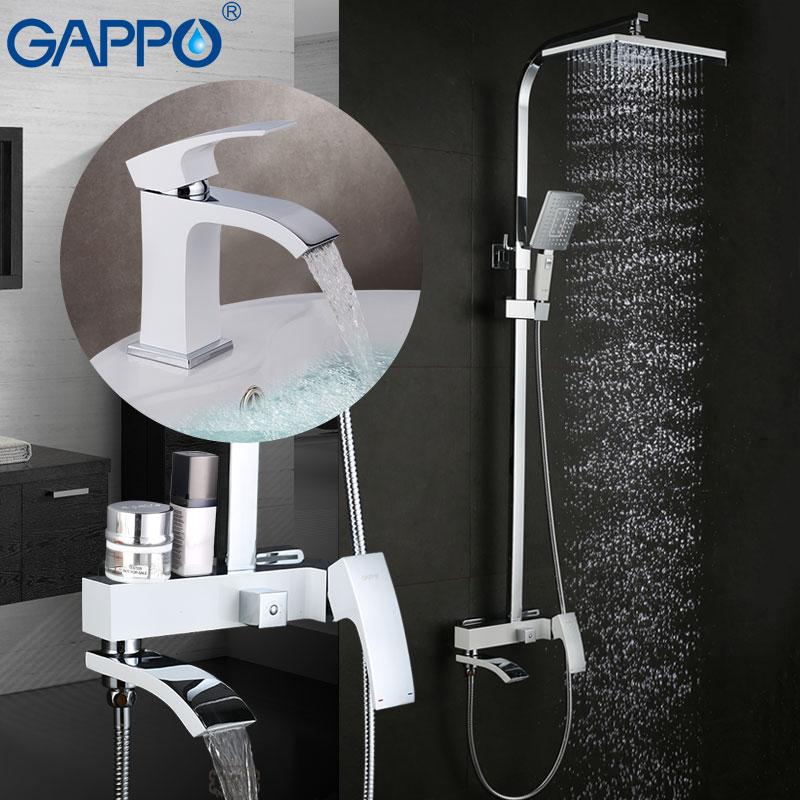 GAPPO bianco Vasca Da Bagno Rubinetti vasca da bagno rubinetto della vasca da bagno rubinetti rubinetto del bacino miscelatore del bacino rubinetti acqua robinet baignoire
