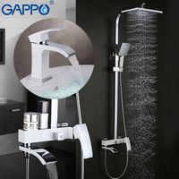GAPPO blanc robinets de baignoire robinet de baignoire robinets de bain robinet de bassin mitigeur de bassin robinets d'eau robinet baignoire