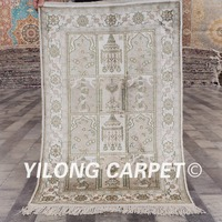 YILONG 2'x3' Oriental art silk carpet garden design handmade exquisite tabriz persian rugs (YHW214B2x3)