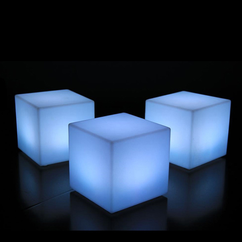 Merveilleux 500mm Cube Chair LED Outdoor Furniture Glowing Stool 100% Waterproof On  Aliexpress.com | Alibaba Group