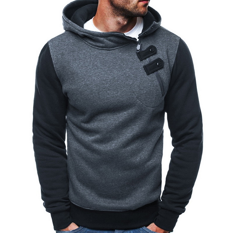 Men Autumn Hoodies Pullover Hooded Long Sleeves Casual Cotton Male Tops -MX8