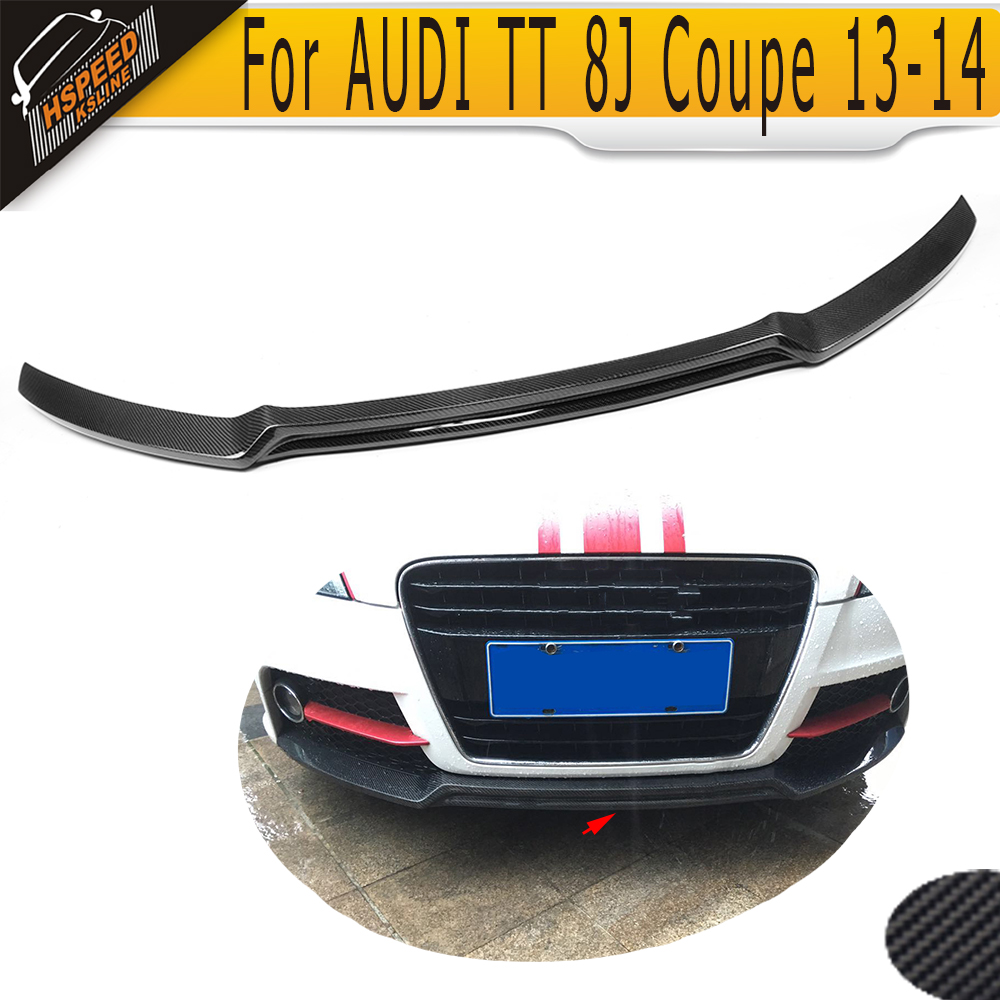 carbon fiber front bumper lip spoiler for audi tt tts 8j. Black Bedroom Furniture Sets. Home Design Ideas