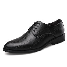 Fashion Business Dress Men Shoes 2019 New Classic Leather Suits Lace up Oxfords