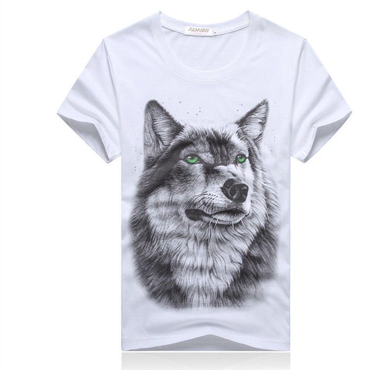 3D Printing wolf tshirt Free shipping Fashion Men\'...