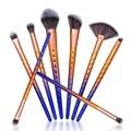 Chegam novas 8 PCS Pincéis de Maquiagem Conjunto de Cosméticos Make up Tools Contour Pó Fundação Fã Gradiente de cor Lidar Com compo escovas