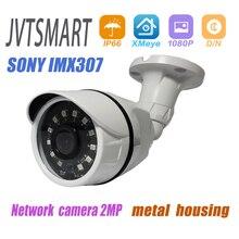 Jvtsmart H.265 + kamera IP SONY IMX307 1080P 2.8mm 3.6mm ONVIF Starlight 48v poe sieci ipcam metalu XMEye 12V xm CCTV zewnątrz