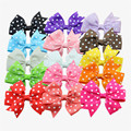 15PCS/LOT Polka Dot Grosgrain Hair Ribbon bow,kids Baby Girls' Hair Accessories WITHOUT Clip,Boutique