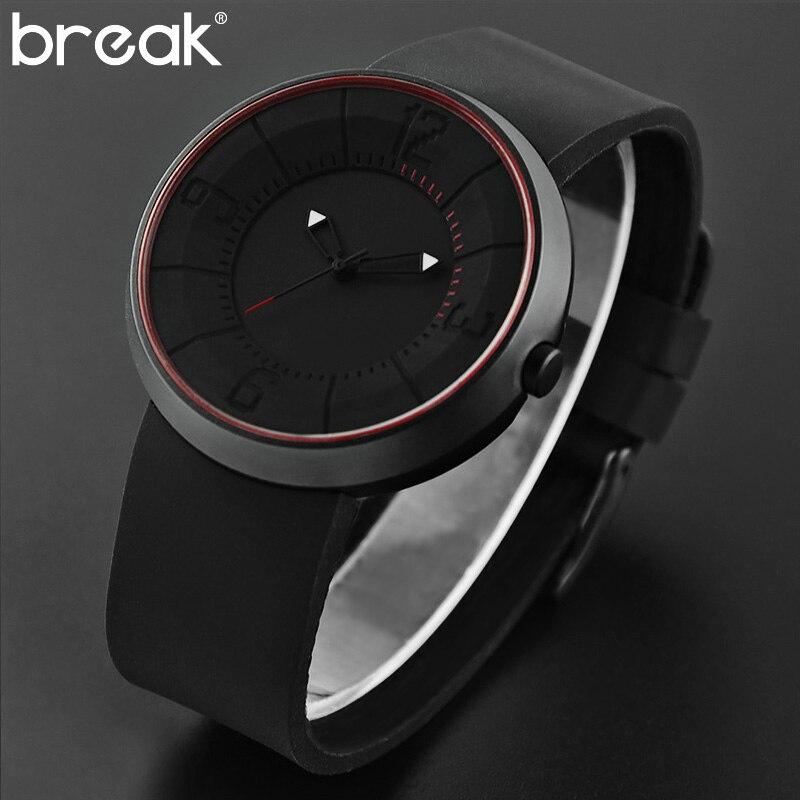 Prix pour Break hommes femmes top de luxe de marque de mode sport quartz analogique montre-bracelet creative unique bande de silicone montres cadeau pour les hommes