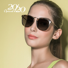 20/20 Brand Fashion Polarized Sunglasses Women Vintage Metal Frame Ladies Leopard Sun lasses Brand Designer Oculos Feminino 7019