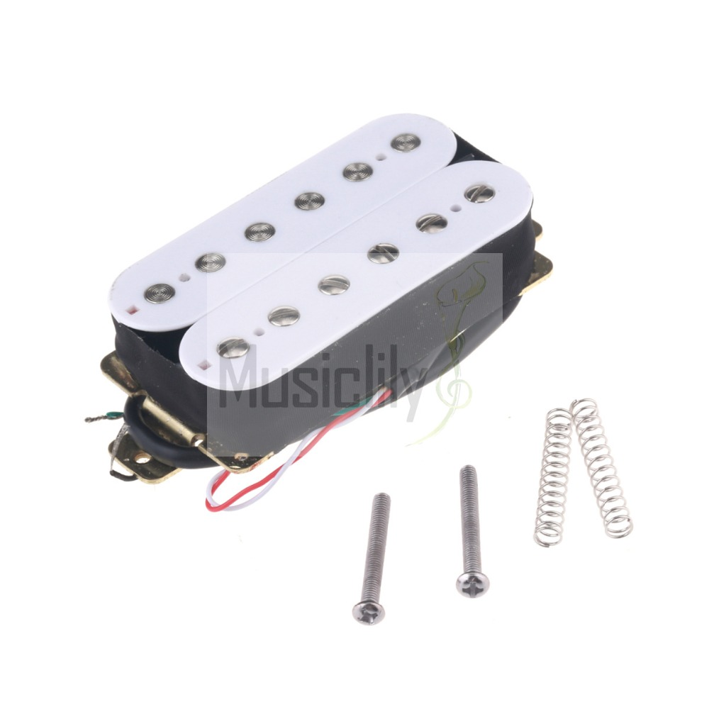 White 52mm Bridge & 50mm Neck Humbucker Double Coil Guitar Pickup Set guitar pickup humbucker gold chrome black double coil pickups electric guitar parts accessories bridge neck set