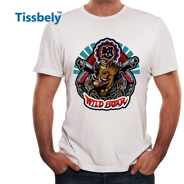 fa9437227 Szalony Punk Rocka Dzik Tissbely T-shirty Metal Men Heavy Metal Szał Styl Muzyczny  Muzyka