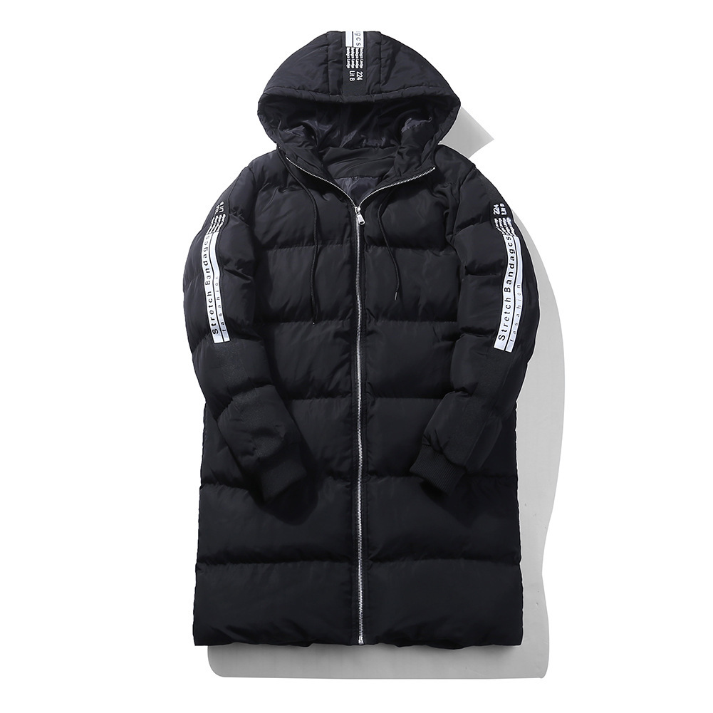 2017 Winter Men Printing Jacket Coat Collar Outerwear Fashion Hood Padded Quilted Warm Male Jackets Hooded Casual