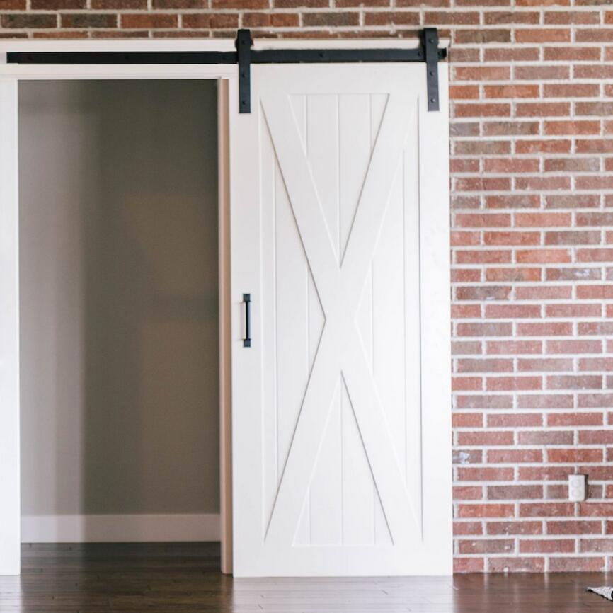 Us 24 4 Wrought Iron Rolling Track Barn Door Hardware Kit Basic Smooth Design 8 2ft In Doors From Home Improvement On Aliexpress
