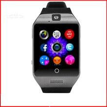 2016 smart uhr Q18S Update Uhr telefon Mit sim-karte NFC Facebook Twitter Smartwatch für IOS Samsung Android phone Armbanduhr