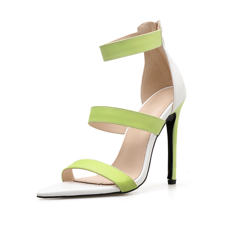 high heels sandals women 39 s shoes gladiator lady roma sandals summer madam Sexy thin heel shoes party shoes Dress pointed toe in High Heels from Shoes
