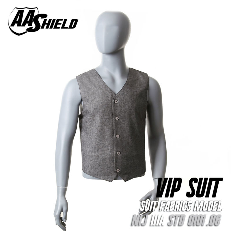 AA Shield Bullet Proof Vest Body Armor VIP Suit Comfortable Armour Carrier Bullistic Aramid Core Insert Safety Clothing Gray