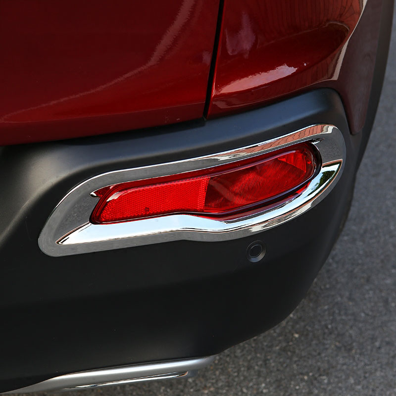 Image 3 - For Jeep Cherokee KL 2014 2015 2016 2017 2018 Rear Trunk Chrome Cover Trim Molding Accessories Car Styling Decoration Sticker-in Chromium Styling from Automobiles & Motorcycles