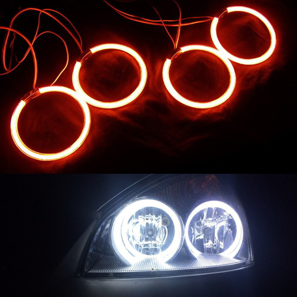 все цены на  Excellent White Angel Eyes kit For Lada Vaz 2110 2111 2112 Ultra bright headlight illumination CCFL Angel Eyes kit Halo Ring  онлайн