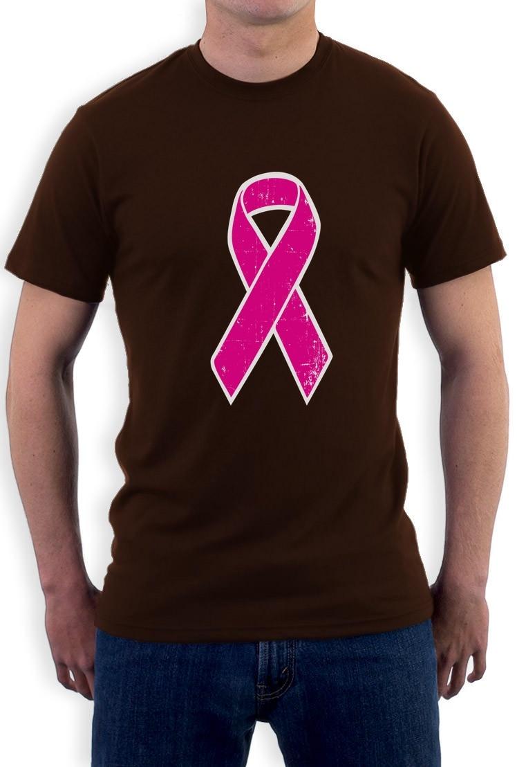 Shirt design gildan - Custom Shirt Design Gildan Graphic O Neck Short Sleeve T Shirts Breast Cancer Awareness Distressed Pink Ribbon Fight Cancer For