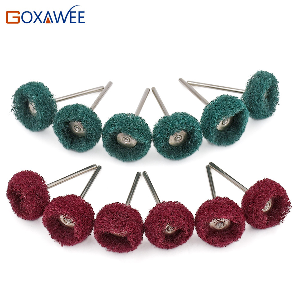 GOXAWEE 10pcs Polishing Wheel Jewelry Metal Micro-Electronic Dremel Accessories For Rotary Tools Polishing Brush For Dremel Tool