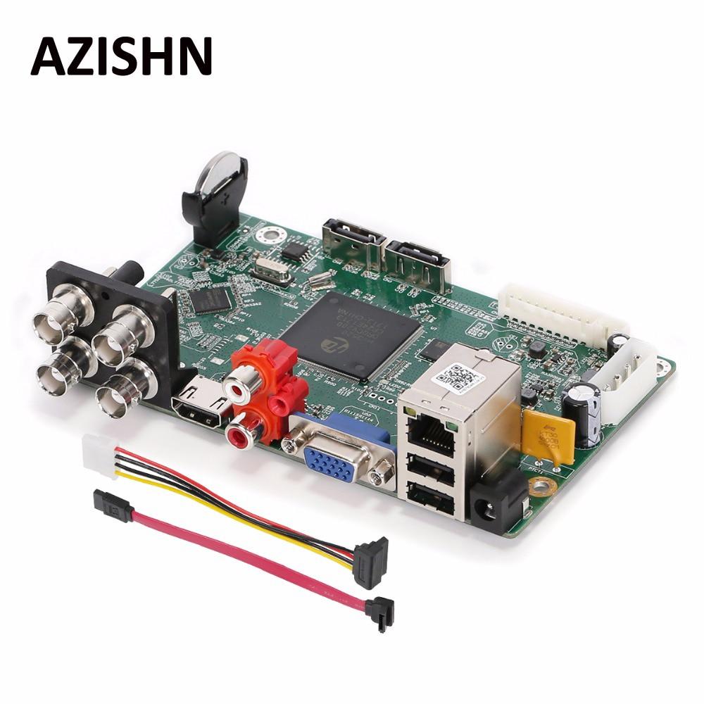 AZISHN Security CCTV Surveillance Main Borad AHD DVR 4CH 2MP 1080N H.264 TVI CVI AHD Analog IP 5 IN 1 Hybrid Video Recorder sxdool 380v cooling fan 12038 12cm 120mm 0 04a double ball bearing server inverter pc case cooling fan