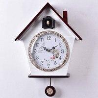 Милые деревянные настенные часы Cuckoo часы креативные настенные часы механизм гостиная бесшумный дизайнерский декоративный Relogio Parede 50ZB229