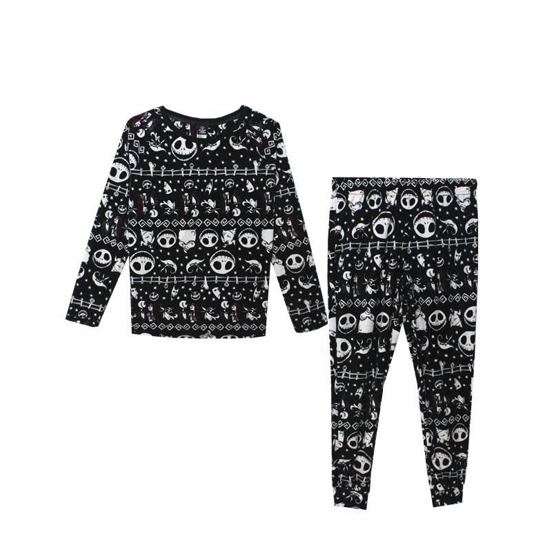 Unisex Adult Nightmare Before Christmas Jack Skellingt Cosplay Costumes Pajama Sleep Set Flannel Pajamas Suits