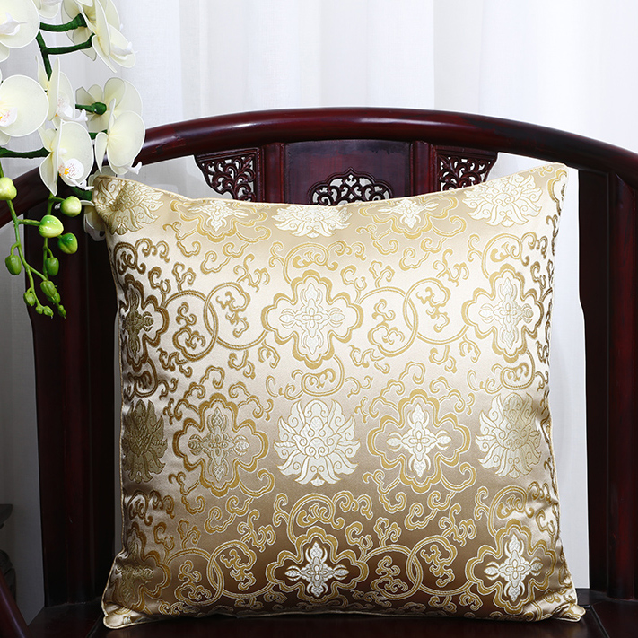 Винтажная квадратная большая подушка для дивана, стула, автомобиля, Высококачественная декоративная шелковая парчовая Подушка для спины 40x40 43x43 40x50 50x50 60x60 см