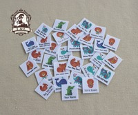 96 Custom Logo Labels Children S Clothing Tags Name Tags White Organic Cotton Labels Animal Decorative