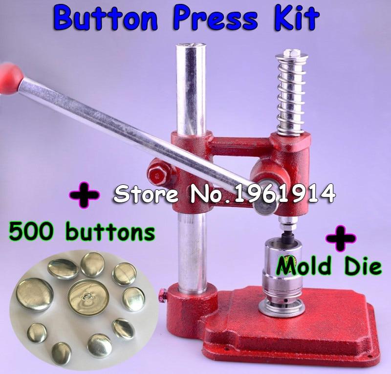 Stoff Dachte Taste Drücken Maschine Handgemachte Stoff Selbst Abdeckung Taste Maker Maschinen Form Werkzeuge 500 stücke tasten großhandel