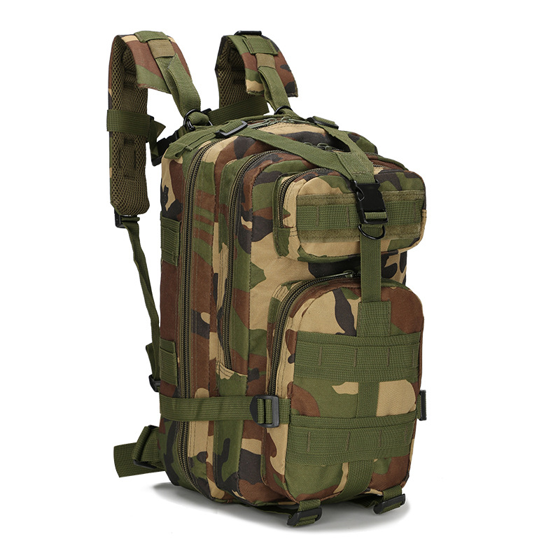 2019 New Outdoor Tactical Backpack 3P Military 30L Molle Bag Army Sport Travel Rucksack Camping Hiking Trekking Camouflage Bag