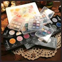 Aquarelle allemande Finetec manuel aquarelle Pigment emballage essai solide aquarelle distribution aquarelle maître