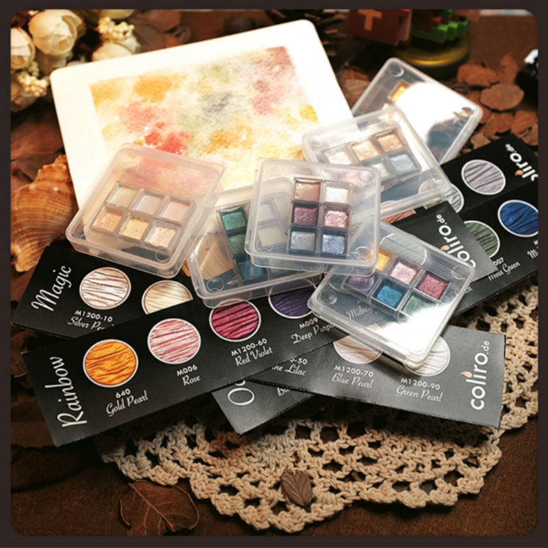German Watercolour Finetec Manual Watercolor Pigment  Packing Trial  Solid Watercolor  Dispensing Watercolor Master