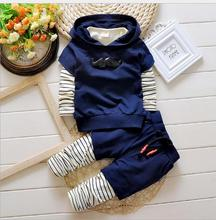 Fashion New Spring&Autumn Baby Boy Clothing Set Blouse+Pant Tracksuit set Kids ClothesChildren Boy Gentleman suit sport suit set