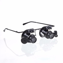 цена на Outdoor tool Glasses Type 20X Watch Repair Magnifier with LED Light  New super discount Hot