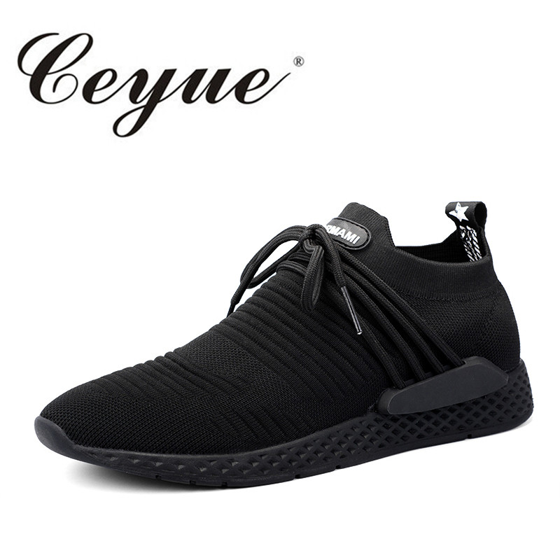 Ceyue Running Shoes Sport Men Breathable Fly Weave Fitness Men Walking Shoes New Elastic ...