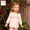 DB4324 dave bella primavera lindo multicolor bebé ropa de las muchachas rosadas conjuntos de tela escocesa lolita ropa de boutique 1 Unidades