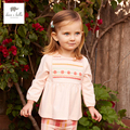 DB4324 dave bella spring cute multi color baby girls clothing set pink plaid sets lolita boutique clothes 1set