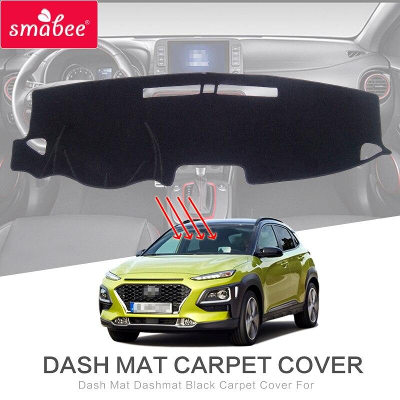 Dash Mat Dashmat Black Carpet Cover For Hyundai Kona 2017 2018 2019 Kauai NON SLIP Automotive Interior