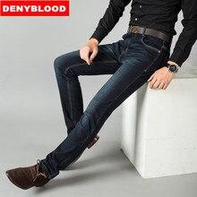 2016 Большой размер 28 — 42 стрейч синий черный Stonewashed классический тонкий прямые джинсы мужские брюки свободного покроя брюки WG006