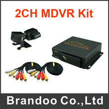 Car Security 2 Channel MDVR + 1pcs Dual Lens Car Camera Kit