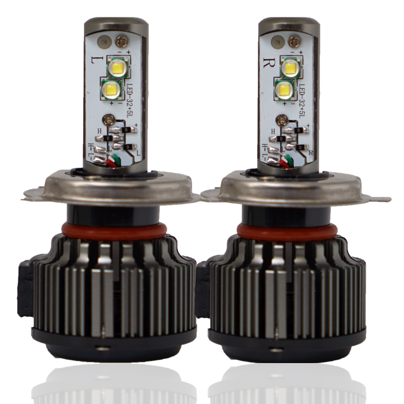 V17 H4 LED H1 H3 H7 H11 880 H13 9005 9006 Hi/Lo 80W 9600LM EMC TURBO 6000K Strong Bright Car Headlight Fog Light Conversion Kit 1 pair dc 9 36v h4 cob 80w led car headlight kit hi lo beam bulbs 6000k