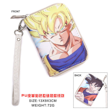 Colorful Japanese Anime DRAGON BALL Z Super Saiyan Son Goku Kakarotto PU Short Wallet Purse WIth Zipper