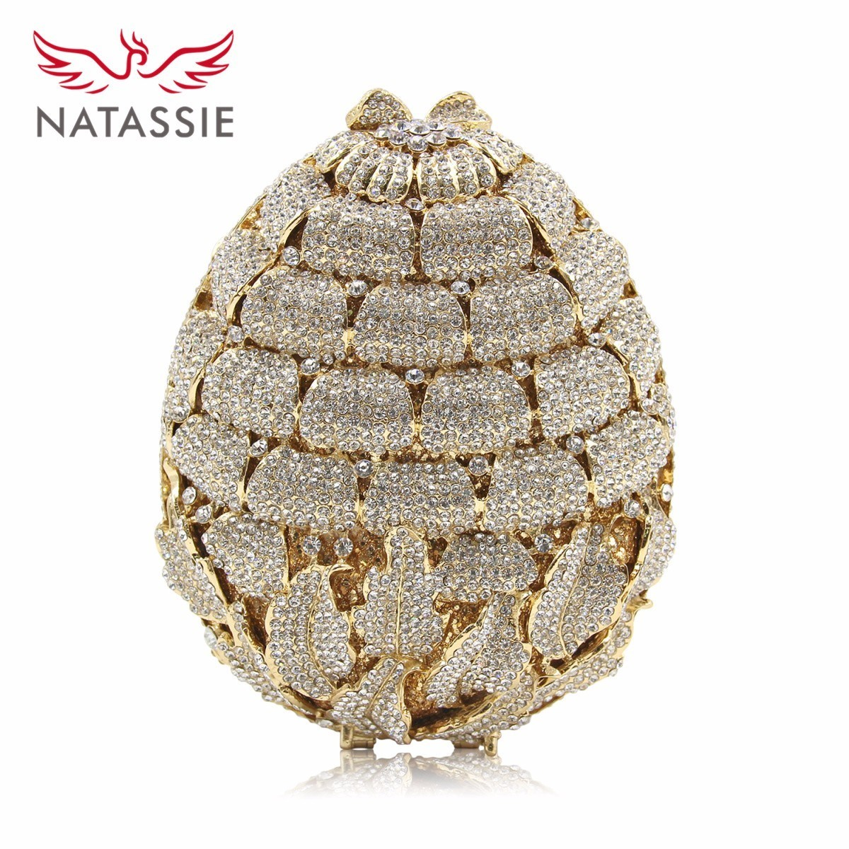 Natassie New Design Ladies Luxury Flower Crystal Evening Bags Women Wedding Clutches Purses Girls Day Clutch Party Bag 2017 new crystal women evening bags luxury diamonds bride wedding party dinner bag handbag handbags purses ladies day clutches