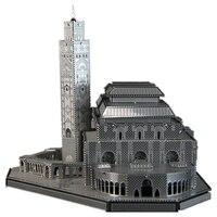 Hassan II Camii Eğlenceli 3d Metal Diy Minyatür Modeli Setleri Bulmaca Oyuncaklar Çocuk Eğitim Boy Ekleme Bilim Hobi Yapı