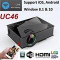 1200 lúmenes UC46 Portátil Mini LED Proyector de Cine En Casa Inalámbrico Se Conecta al Teléfono Inteligente Multimedia Digital de Videojuegos Proyector