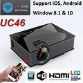 1200lumens UC46 Handheld Mini LED Home Cinema Projector Wireless Connect to Smartphone Multimedia Digital Video Game Proyector