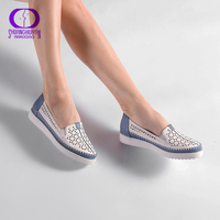 High Quality Flats Casual Slip On Loafers Women Shoes Leather Comfortable Soft Bottom Flat Shoes Vintage Style Women Footwear
