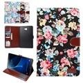 Высокое качество, Модные Печатных ткань смарт Tablet Чехол Для Samsung Galaxy Tab 10.1 2016 T585 T580N дело pen + film